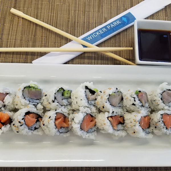 Thanks to a previous review, I too had the yellow fin and scallions roll then added the salmon and sesame seeds roll with gf soy sauce. They were both very good!
