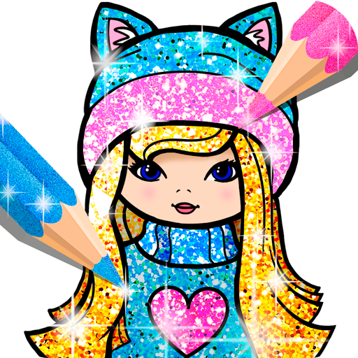 Girls Coloring Book for Kids Glitter
