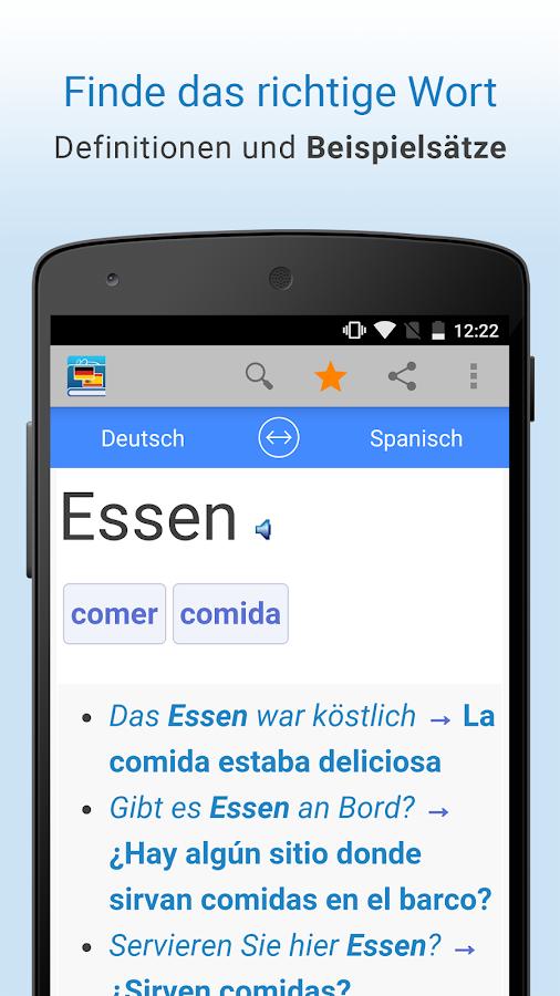 Spanisch übersetzer Offline