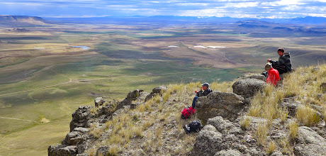 Photo: Lunch spot looking toward Square Butte - Little Belt Mountains on horizon