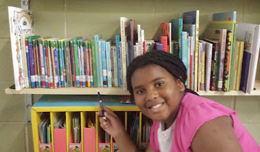 Photo: Fiction books. Grouped by author last names. This is the O-Z section and Kaleya's already learned where the Magic Tree House serices is :-)