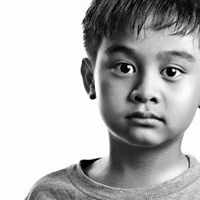 Just One! by Jon Soriano - People Portraits of Men ( b/w, black and white, jonrei, jonr, nikon, boy )