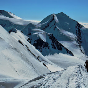 To the summit... by Fabio Ferraro - Landscapes Mountains & Hills ( breithorn, climbing, mountain, trekking, alps )