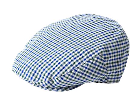Seersucker Summer Cap, blå/grön/vit