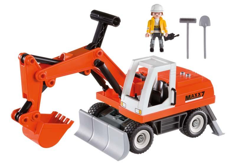 Contenido real de Playmobil® 6860 Excavadora con Cargadora Frontal