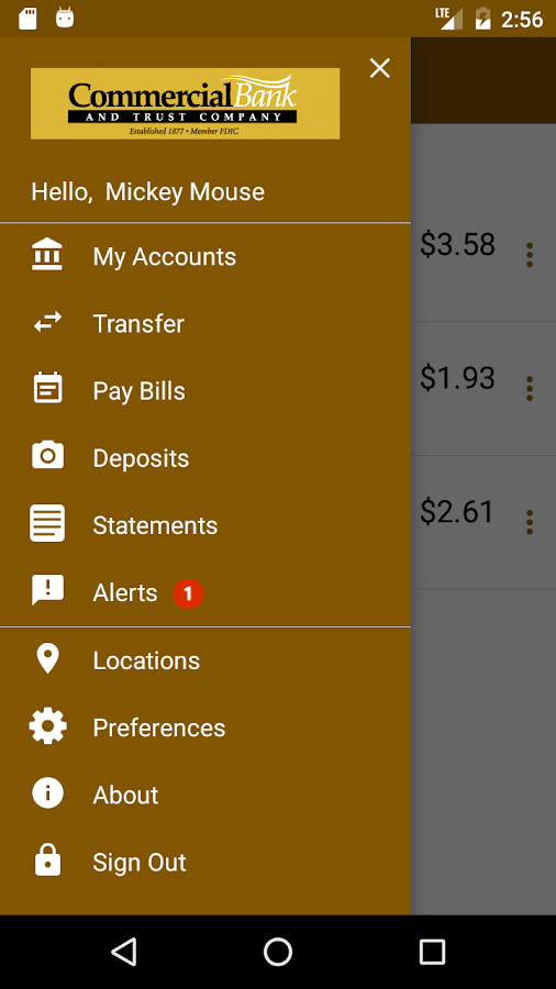 Commercial Bank Mobile Banking- screenshot