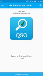 QSO - Qanun-e-Shahadat Order - náhled