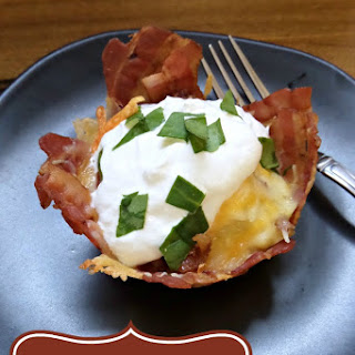 Loaded Mashed Potato Bacon Cups