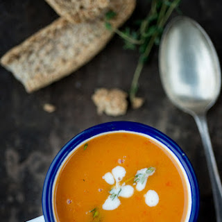 Sweet Potato & Roasted Pepper Soup