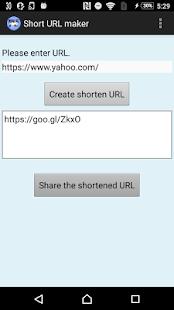 Short URL maker - náhled