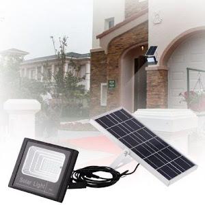 Proiector LED 200W cu panou solar, telecomanda inclusa