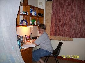 Photo: Team nurse at her dispensary. :)