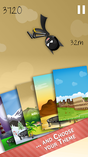 Stickman Trampoline FREE Backflip Jump Flip Master modavailable screenshots 14