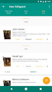 Roach - A Gwent Companion App - náhled