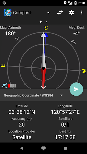 Compass and Coordinate Tool screenshot 1