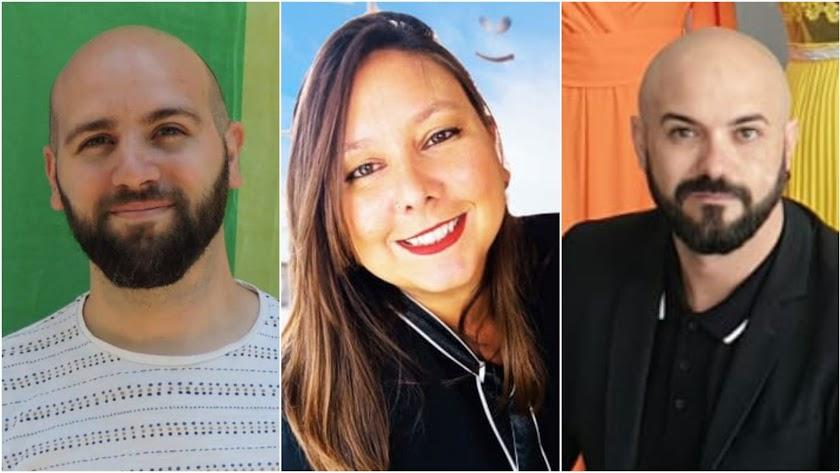 El investigador Juan Francisco Colomina, la moza de almacén y tuitera Soraya Fernández y el diseñador Sergi Regal.