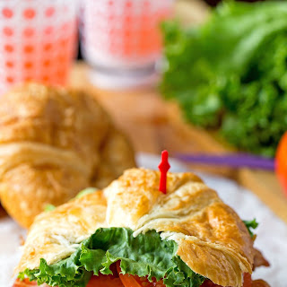 California Club Croissant Sandwich.