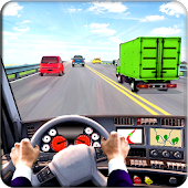 In Truck Driving Highway Race Simulator
