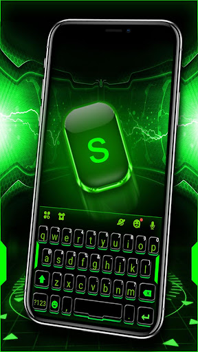 Green Neon Tech Keyboard Theme 1.0 screenshots 1