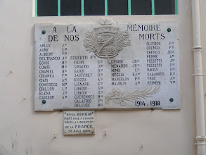 Photo: Memorials like this can be found in towns far smaller than Cannes, reminding us of the devastation in both damage and death suffered by the country in WW I in particular.