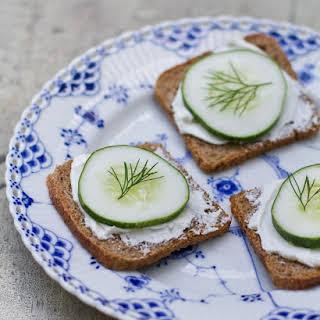 Cucumber Rye Toasts.