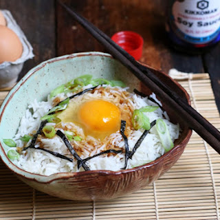 Japanese Breakfast Rice Bowl (Tamago Rohan).