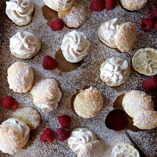 Easy Raspberry Cream Puffs.