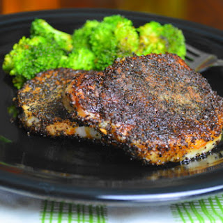 Coffee Crusted Pork Chops.