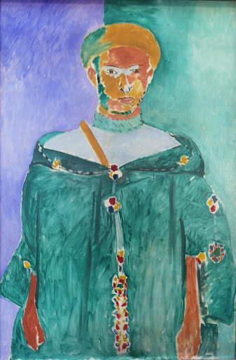 "matisse-standing-moroccan-in-green.jpg -  Henri Matisse, ""Standing Moroccan in Green (Standing Riffian),"" 1913, oil on canvas, at the Hermitage at St. Petersburg, Russia."