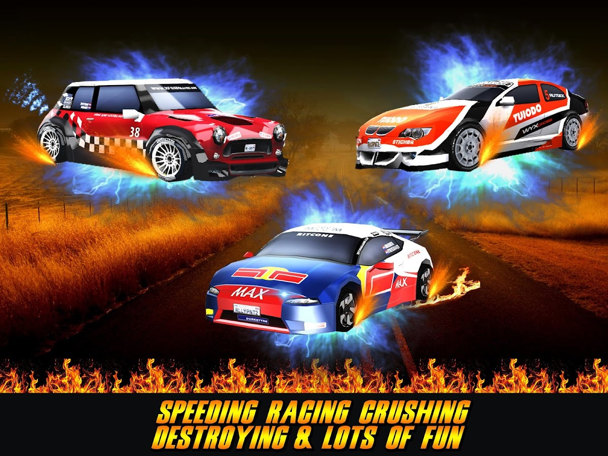 Racing Car On Fire- screenshot