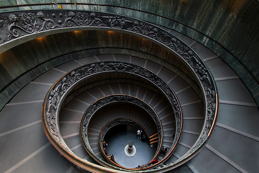 Vatican stair from top by Felixs Gunawan - Buildings & Architecture Other Interior
