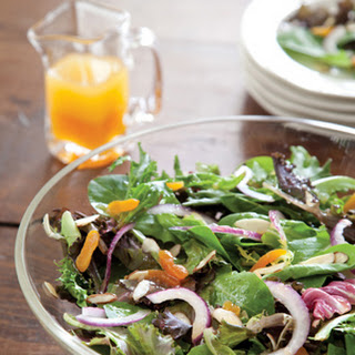 Spring Mix Salad with White Balsamic-Apricot Vinaigrette.