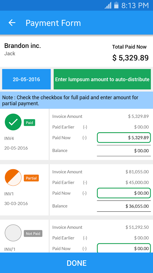 simple invoice manager - android apps on google play, Invoice examples