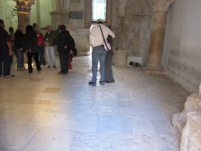 Photo: Possibly the same floor from the room where the last supper took place