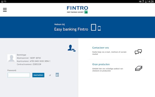 Fintro Easy banking - screenshot thumbnail