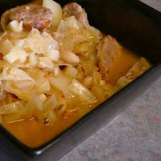Game Day Bratwurst-Cabbage Soup.