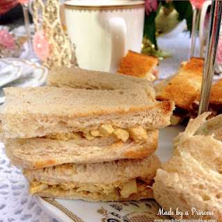 Coronation Chicken Tea Party Sandwiches.
