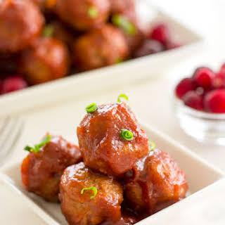 Crock Pot Cranberry Meatballs.