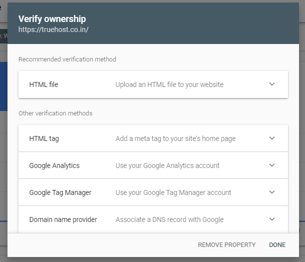 Add your site to Google Search Console