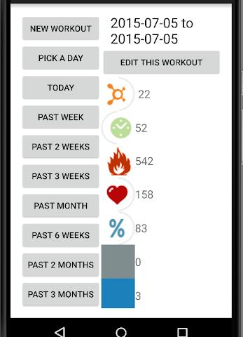 android OTF Workout Calculator Screenshot 5