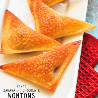 Baked Banana and Chocolate Wontons