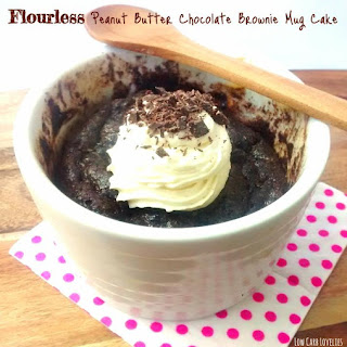 Peanut Butter Chocolate Brownie Mug Cake