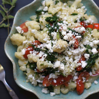 Greek Cauliflower Pasta Salad