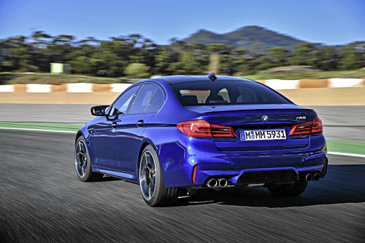 The new M5 is possibly even more at home on the racetrack than it was before.   Picture: BMW