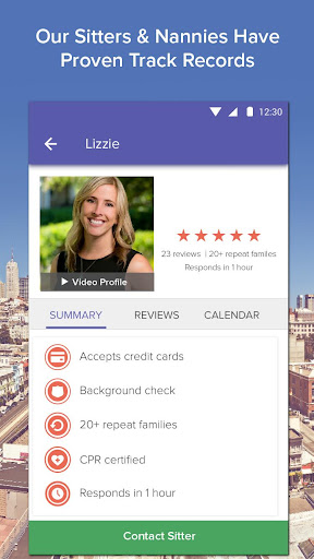 UrbanSitter - Find Babysitters Screenshot