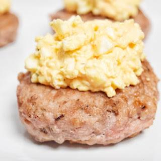 Pork Burger with Deviled Egg Salad Recipe