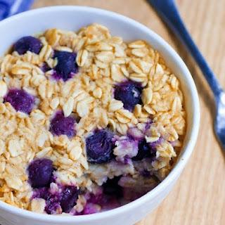 Blueberry Baked Oatmeal Mug Cake.