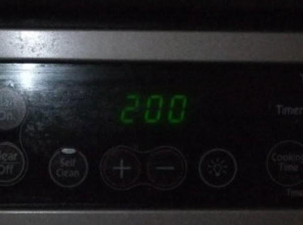 Preheat oven to 200 degrees.