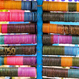 Bangle store by Arun Karanth - City,  Street & Park  Markets & Shops ( colourful, pattern, display, india, collection, bangles, ornaments, street photography )