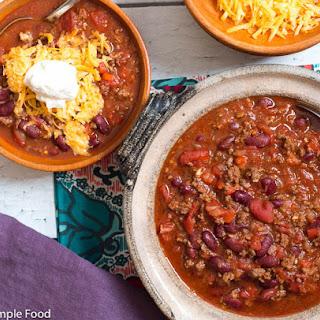Beef & Bean Chili.